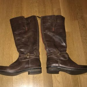 Eric Micheal Brown Leather Boots Size 8